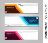 vector abstract design banner... | Shutterstock .eps vector #708174079
