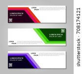 vector abstract design banner... | Shutterstock .eps vector #708174121