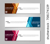 vector abstract design banner... | Shutterstock .eps vector #708174139