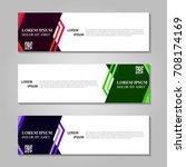 vector abstract design banner... | Shutterstock .eps vector #708174169
