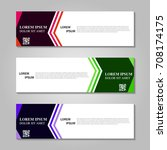 vector abstract design banner...   Shutterstock .eps vector #708174175