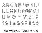 line font  latin alphabet... | Shutterstock .eps vector #708175465