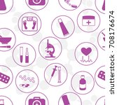 seamless pattern of various... | Shutterstock .eps vector #708176674