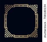 vintage retro border and frame... | Shutterstock .eps vector #708180154