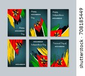 mozambique patriotic cards for... | Shutterstock .eps vector #708185449