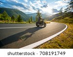 motorcycle driver riding in...   Shutterstock . vector #708191749