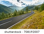 asphalt road in austria  alps... | Shutterstock . vector #708192007
