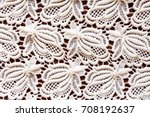 old napkin embroidery of white... | Shutterstock . vector #708192637
