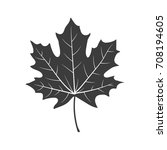 autumn leaf sign. vector. | Shutterstock .eps vector #708194605