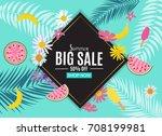 summer sale abstract banner... | Shutterstock . vector #708199981