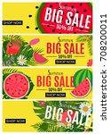 summer sale abstract banner... | Shutterstock . vector #708200011