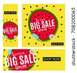 summer sale abstract banner... | Shutterstock . vector #708200065
