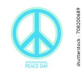 peace symbol vector icon in... | Shutterstock .eps vector #708200689