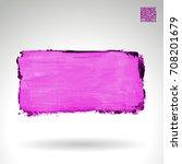 purple brush stroke and texture.... | Shutterstock .eps vector #708201679