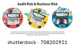 auditing and business concepts. ... | Shutterstock .eps vector #708202921