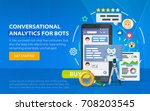 chatbot business concept.... | Shutterstock .eps vector #708203545