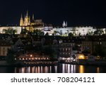 prague castle and vltava bank... | Shutterstock . vector #708204121