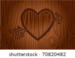 Heart Engraved In Tree Vector