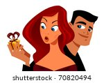 mysterious little gift vector | Shutterstock .eps vector #70820494