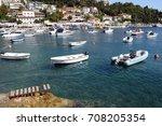 mediterranean croatian... | Shutterstock . vector #708205354
