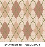 winter knitted background with... | Shutterstock . vector #708205975