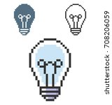 pixel icon of  lamp in three... | Shutterstock .eps vector #708206059