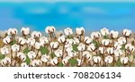 horizontal seamless cotton... | Shutterstock .eps vector #708206134