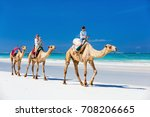 family mother and kids riding... | Shutterstock . vector #708206665
