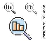 pixel icon of decrease... | Shutterstock .eps vector #708206785