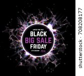 black friday sale abstract... | Shutterstock .eps vector #708208177