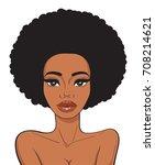beautiful african american... | Shutterstock .eps vector #708214621