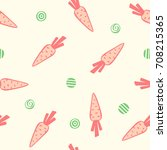 cute seamless kids pattern with ... | Shutterstock .eps vector #708215365