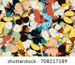 seamless pattern with lot of...   Shutterstock . vector #708217189