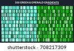 grren  emerald chrome gradient... | Shutterstock .eps vector #708217309