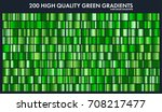 grren chrome gradient set... | Shutterstock .eps vector #708217477