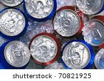 photo of cans of drink on... | Shutterstock . vector #70821925