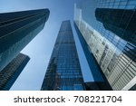 modern business skyscrapers ... | Shutterstock . vector #708221704