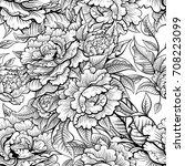 vector black and white vintage... | Shutterstock .eps vector #708223099