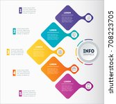 business presentation or... | Shutterstock .eps vector #708223705