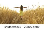 young girl in the dress is... | Shutterstock . vector #708225289