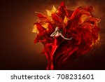 woman art dress  beautiful... | Shutterstock . vector #708231601