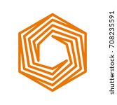stamp logo structure hexagon... | Shutterstock .eps vector #708235591