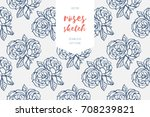 vintage seamless pattern of... | Shutterstock .eps vector #708239821
