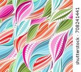 vivid seamless abstract hand... | Shutterstock .eps vector #708241441