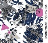 memphis style. vector seamless... | Shutterstock .eps vector #708242755