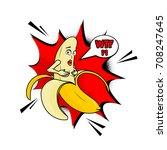 vector adult character. funny... | Shutterstock .eps vector #708247645