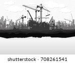 construction vector background.   Shutterstock .eps vector #708261541