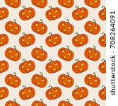 halloween background with... | Shutterstock .eps vector #708264091