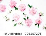 flower pattern of pink peony...   Shutterstock . vector #708267205