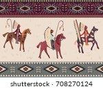 american prairie pattern.... | Shutterstock .eps vector #708270124